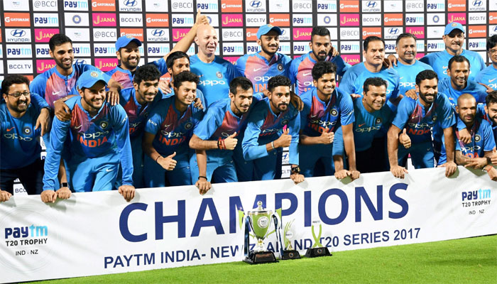 India Clinch the paytm trophy by 2-1